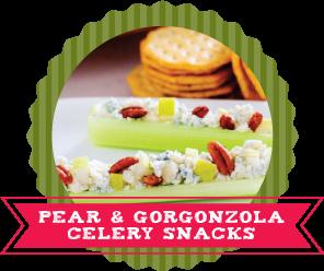 24 Ways to Stuff Celery Recipes Pear and Gorganzola