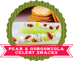 24 Ways to Stuff Celery Recipes Pear and Gorganzola