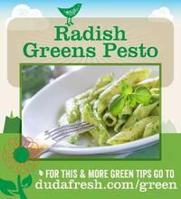 Radish Greens Pesto - For this and more green tips go to dudafresh.com/green