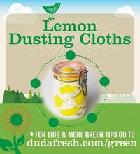 Lemon Dusting Cloths - For this and more green tips go to dudafresh.com/green