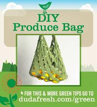 DIY Produce Bag - For this and more green tips go to dudafresh.com/green