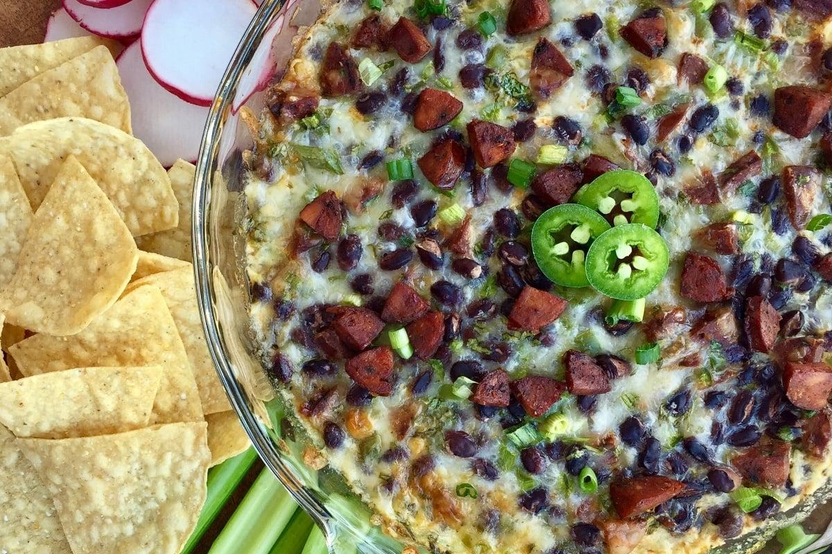 Chorizo-Black Bean Queso Dip
