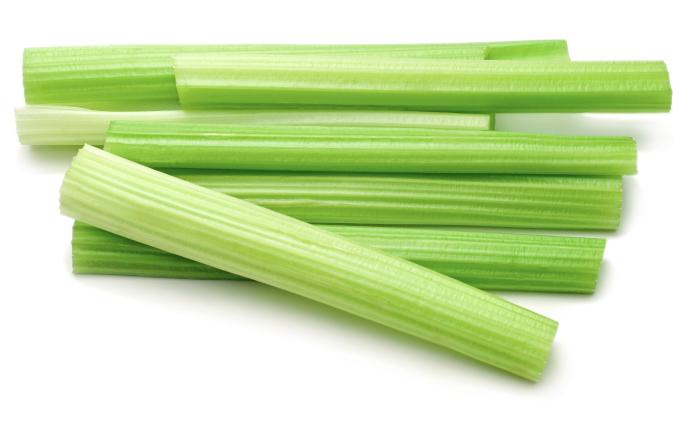 fresh cut celery sticks